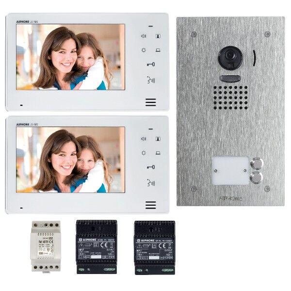 AIPHONE Kit vidéo couleur mains libres 2 BP JO2SDVF - Aiphone 130407