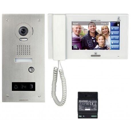 AIPHONE Kit vidéo accessibilité avec platine inox encastrée JPS4AEDFL - Aiphone 130324