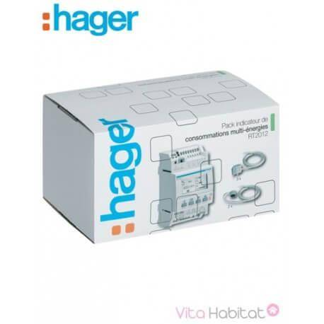 HAGER Pack Afficheur modulaire Multiénergies RT2012 - Hager logisty - EC453