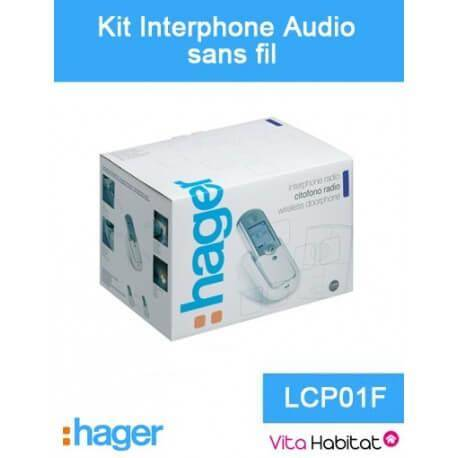 HAGER Kit Interphone audio sans fil - 1 logement 1 bouton - Hager logisty - LCP01F