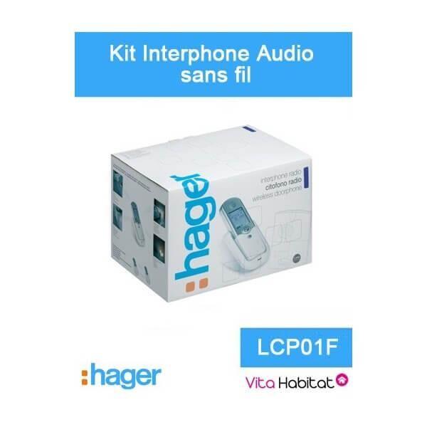 HAGER Kit Interphone audio sans fil - 1 logement 1 bouton - Hager logisty - LCP01F