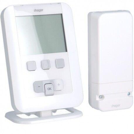 HAGER Kit TAP radio + récept. mur - GEST CHAUF EAU CH HAGER EK560