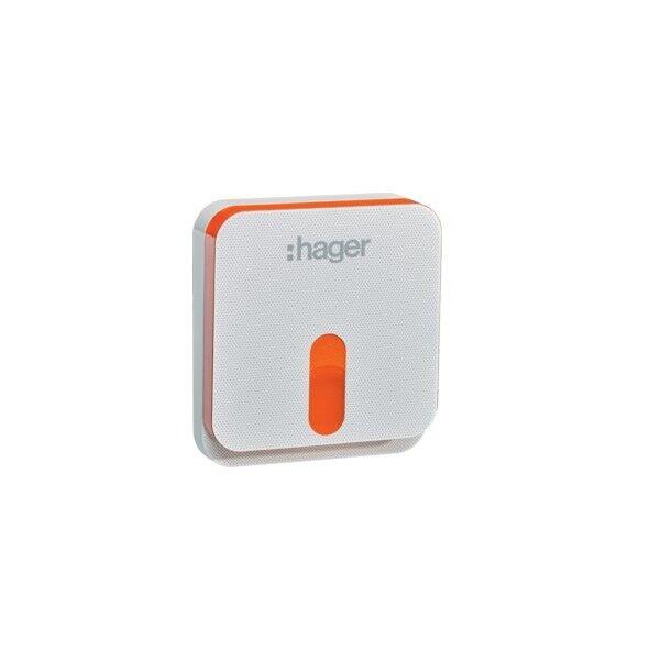 HAGER Sirène ext blanche voc, sepio - ALARME HAGER RLD416X