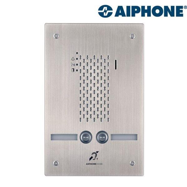 AIPHONE Platine audio encastrée inox 2 BP IP/SIP avec synthèse vocale pictos et boucle magnétique IXSSA2L - AIPHONE 200946