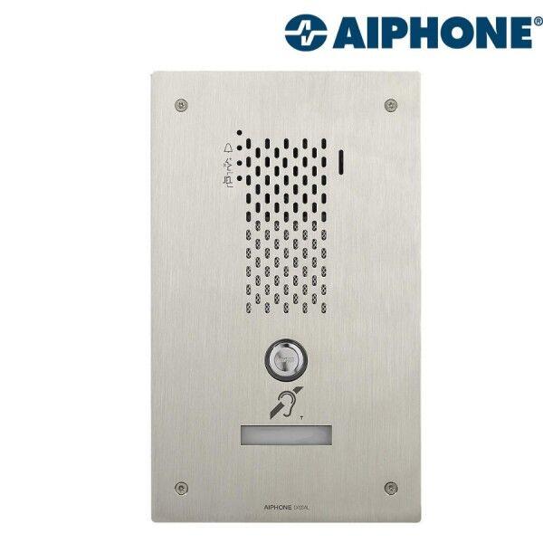 AIPHONE Platine audio encastrée inox 1 BP IP/SIP avec synthèse vocale pictos et boucle magnétique IXSSAL - AIPHONE 200945