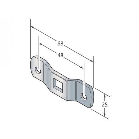 CAME Oméga à entraxe 48mm logement Q10 CAME YM0014