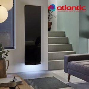 ATLANTIC Radiateur électrique Atlantic DIVALI Premium Vertcial Noir 1500W Lumineux - 507649 - Publicité