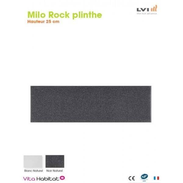 LVI Radiateur electrique MILO Rock Plinthe (haut.250) Noir 750W - LVI 2025181