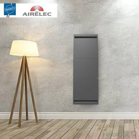 AIRELEC Radiateur electrique Fonte AIRELEC - AIREVO Smart ECOcontrol 2000W Vertical Anthracite - A693467