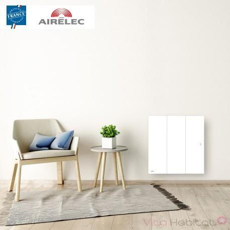 AIRELEC Radiateur electrique Fonte AIRELEC - OZEO Smart ECOcontrol 1000W Horizontal Blanc - A693483