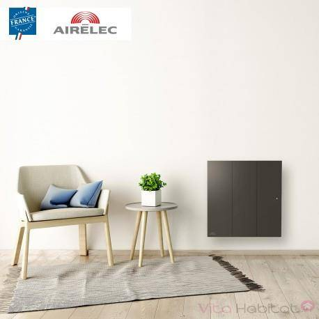 AIRELEC Radiateur electrique Fonte AIRELEC - OZEO Smart ECOcontrol 1250W Horizontal Anthracite - A693514