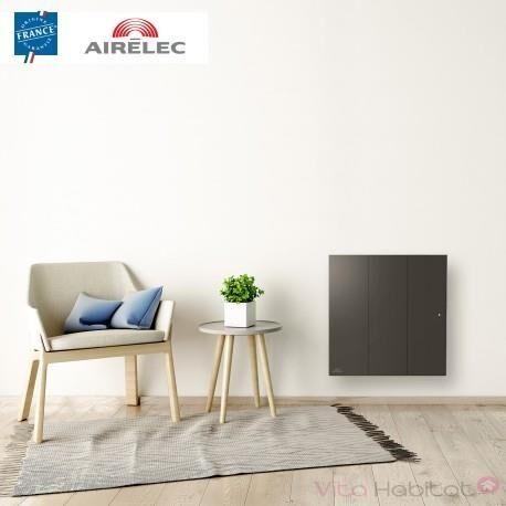 AIRELEC Radiateur electrique Fonte AIRELEC - OZEO Smart ECOcontrol 2000W Horizontal Anthracite - A693517