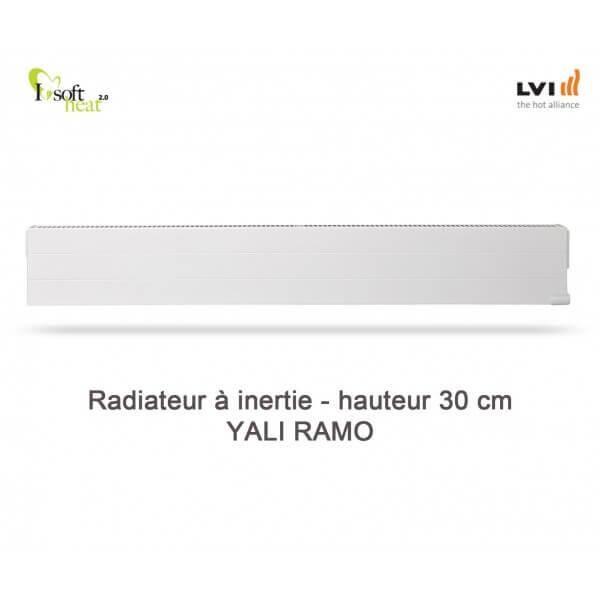 LVI Radiateur électrique LVI - YALI Ramo Plinthe 750W - inertie fluide (haut.300) 3713082