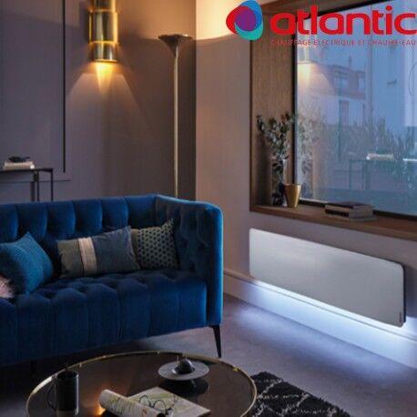 ATLANTIC Radiateur électrique Atlantic DIVALI Premium Plinthe Blanc 1500W Lumineux - 507643