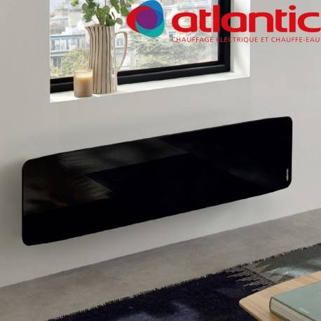 ATLANTIC Radiateur électrique Atlantic DIVALI Premium Plinthe Noir 1500W Lumineux - 507652