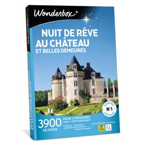 Wonderbox Coffret cadeau Nuit de rêve au château et belles demeures - Wonderbox - Publicité