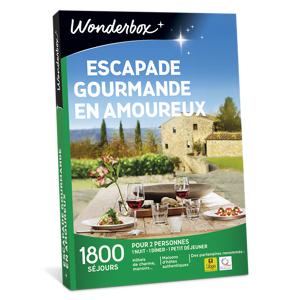 Wonderbox Coffret cadeau Escapade gourmande en amoureux - Wonderbox
