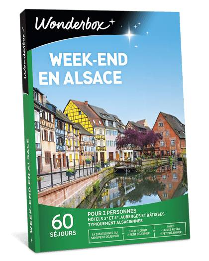 Wonderbox Coffret cadeau Week-end en Alsace - Wonderbox