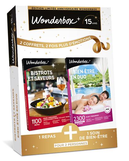 Wonderbox Coffret cadeau Bistrots et saveurs + Bien-être en duo - Wonderbox