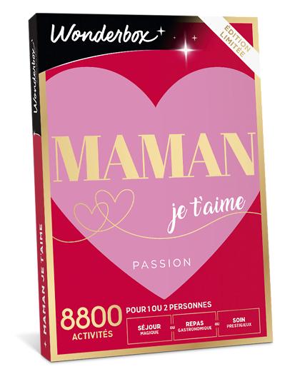 Wonderbox Coffret cadeau Maman je t'aime passion - Wonderbox