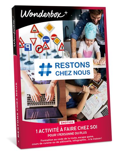 Wonderbox Coffret cadeau # Restons chez nous - émotion - Wonderbox