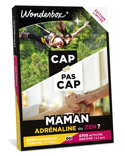 Wonderbox Coffret cadeau CAP OU PAS CAP - Maman adrénaline ou zen ? - Wonderbox