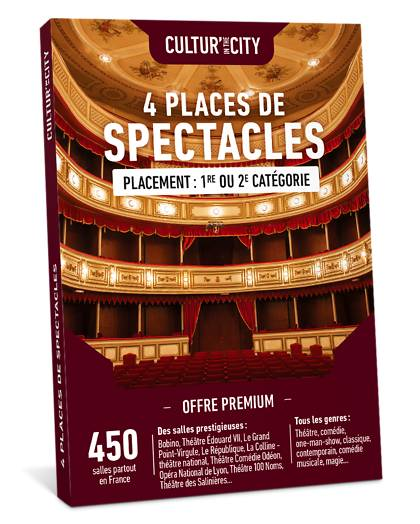 Wonderbox Coffret cadeau 4 Places de Spectacles Premium - Wonderbox