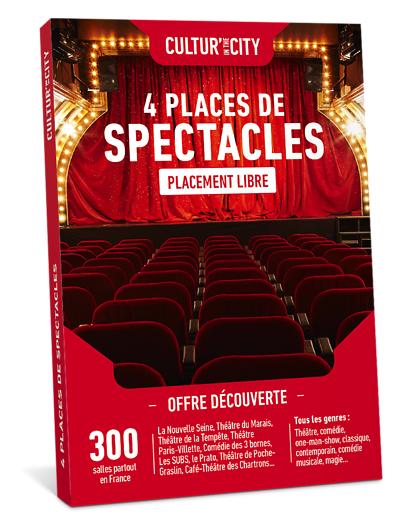 Wonderbox Coffret cadeau 4 Places de Spectacles Découverte - Wonderbox