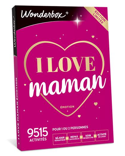 Wonderbox Coffret cadeau I love Maman Émotion - Wonderbox