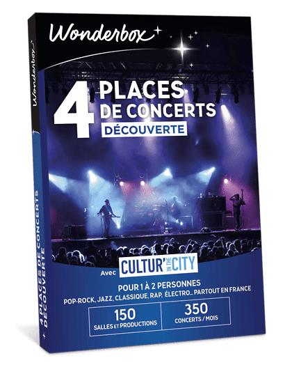 Wonderbox Coffret cadeau 4 Places de concerts Découverte - Cultur'In The City - Wonderbox