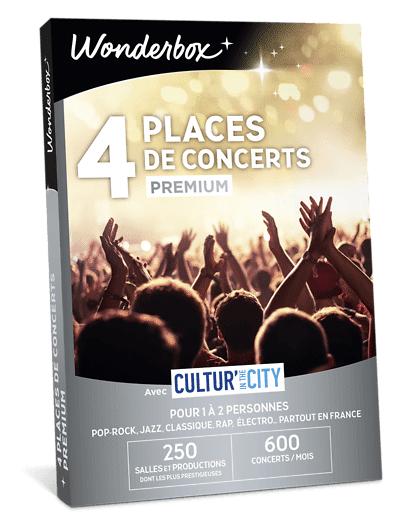 Wonderbox Coffret cadeau 4 Places de concert Premium - Cultur'In The City - Wonderbox