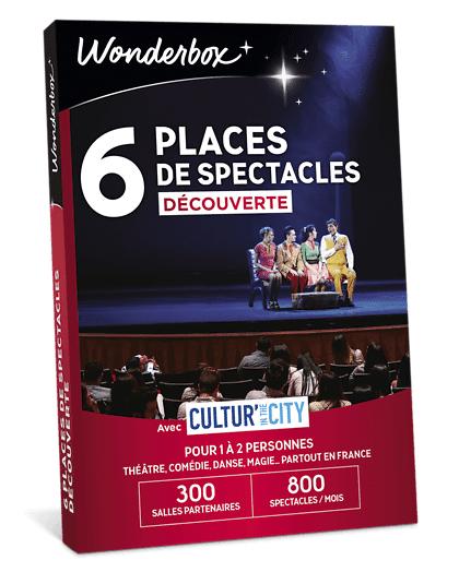 Wonderbox Coffret cadeau 6 Places de spectacles découverte - Cultur'In The City - Wonderbox