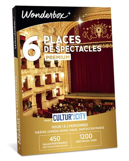 Wonderbox Coffret cadeau 6 Places de spectacles Premium - Cultur'In The City - Wonderbox
