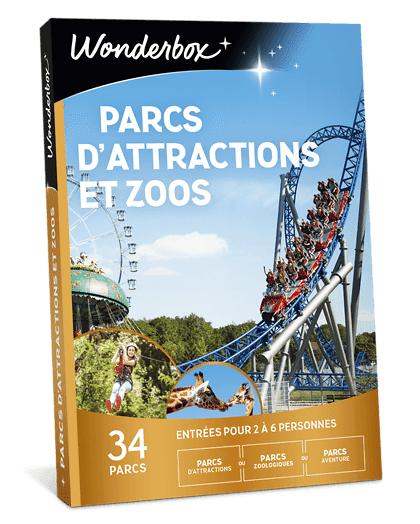 Wonderbox Coffret cadeau Parcs dattractions et zoos - Wonderbox
