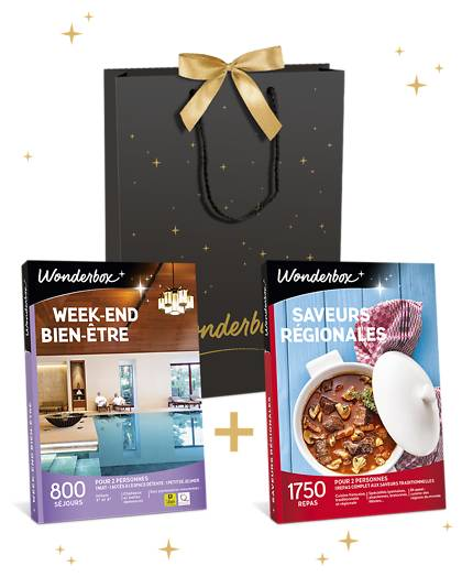 Wonderbox Coffret cadeau Week-end bien-être + Saveurs régionales - Wonderbox