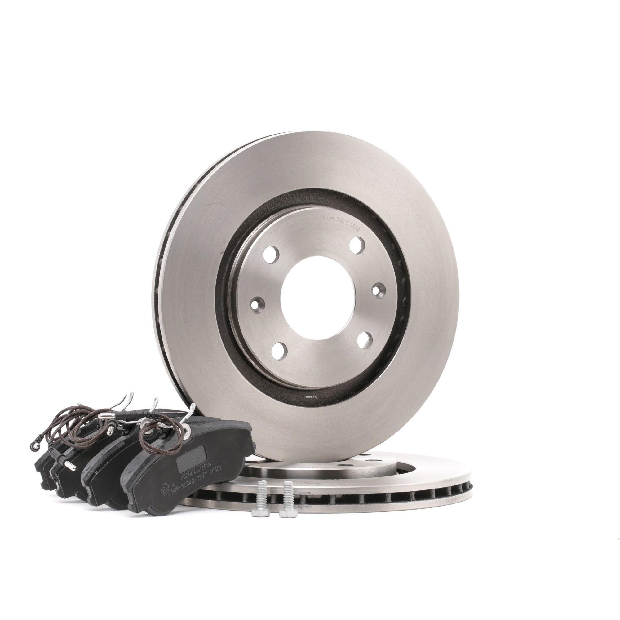 RIDEX Kit de freins, frein à disques PEUGEOT,CITROËN 3405B0367 4246R5,425155,95632048 95667809,424697,4246B1,4246R3,425154