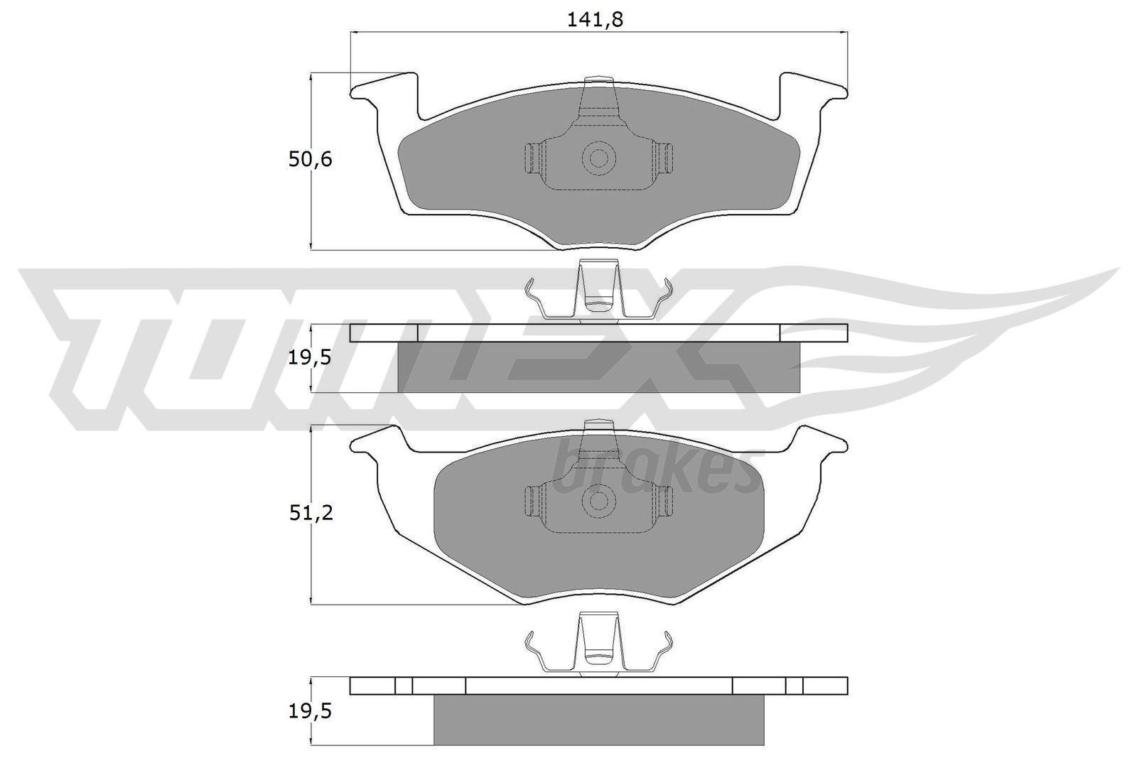 TOMEX brakes Plaquettes De Frein & Jeu De Plaquettes De Frein VW,SEAT TX 10-86 1H0698151A,1H0698151A Plaquettes De Frein