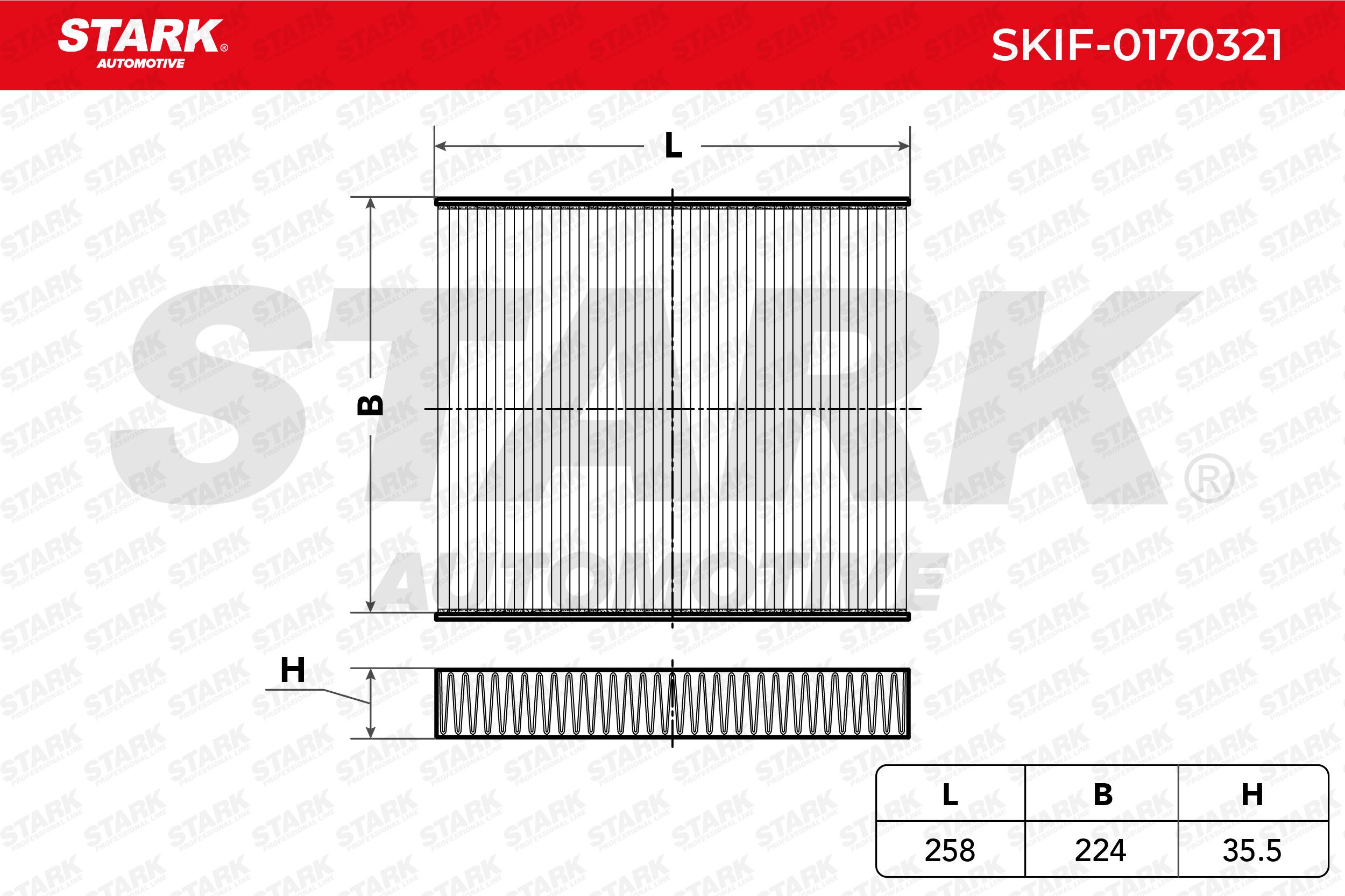 STARK Filtre De Climatisation VW,SKODA,SEAT SKIF-0170321 Filtre Dhabitacle,Filtre À Pollen