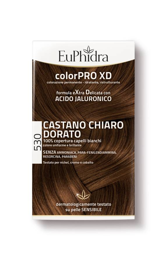 ZETA FARMACEUTICI SpA EuPhidra Colorpro XD Teinture Extra Soft Couleur 530 Light Brown d'or