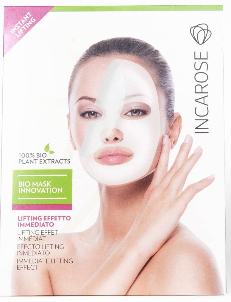 di-va srl innovation instantanee de masque d'incarose bio soulevant le traitement du visage 17ml