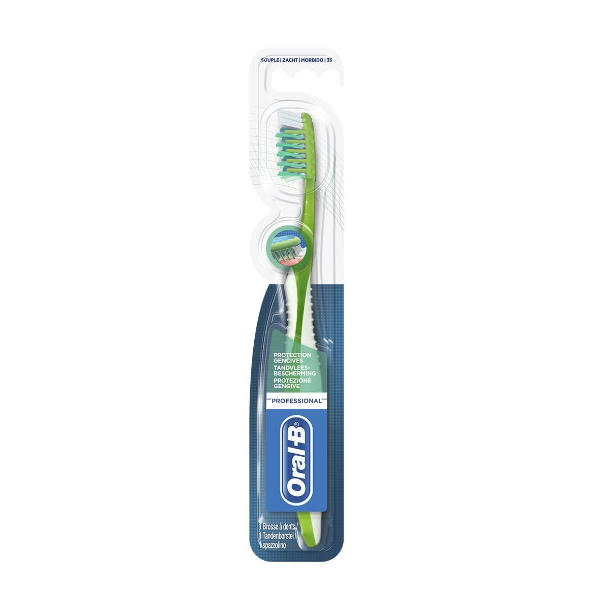 procter & gamble srl oral-b professional protection gencives 35mm souple brosse a dents