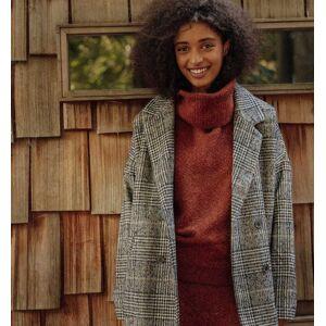 Promod Manteau Prince-de-Galles Femme Carreaux noirs - taille: 34,36,38,40,42,44 - Publicité