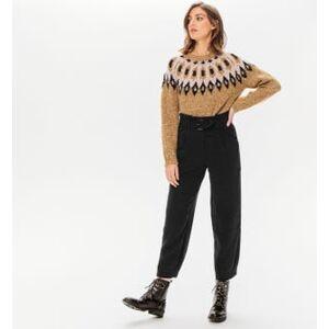 Promod Pantalon taille haute slouchy Noir - taille: 34,36,38,40,42,44,46 - Publicité