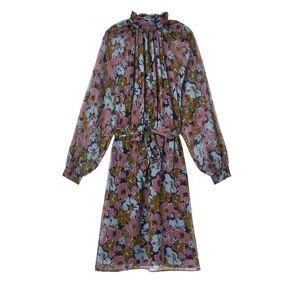 Promod Robe en voile imprimé Femme Imprimé multicolore - taille: 34,36,38,40,42,44,46 - Publicité