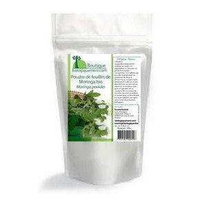 Poudre de feuilles de Moringa bio