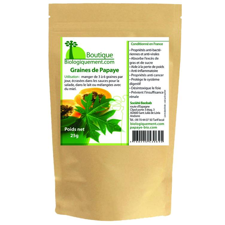 Graines de Papaye bio