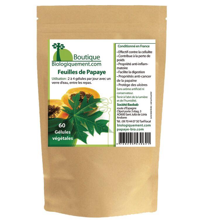 Gélules de feuilles de Papayer