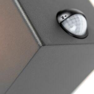 QAZQA Applique murale exterieure gris foncé avec detecteur de mouvement IP44 - Danemark - Publicité