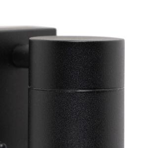 QAZQA Applique murale d'extérieur noir avec détecteur de mouvement IP44 - Solo - Publicité