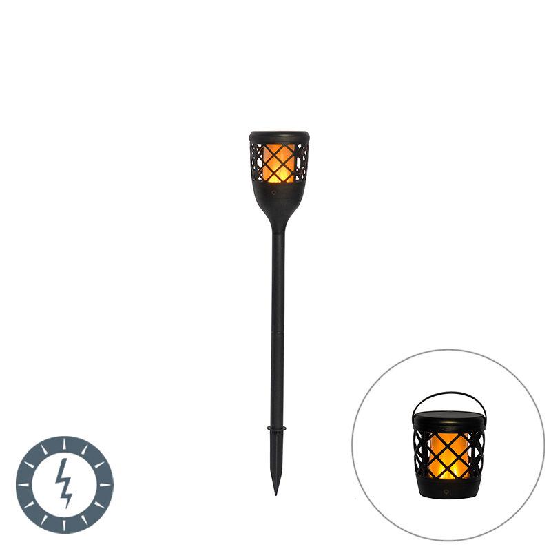 QAZQA Spike spot noir avec effet flamme avec LED 2W - Toci